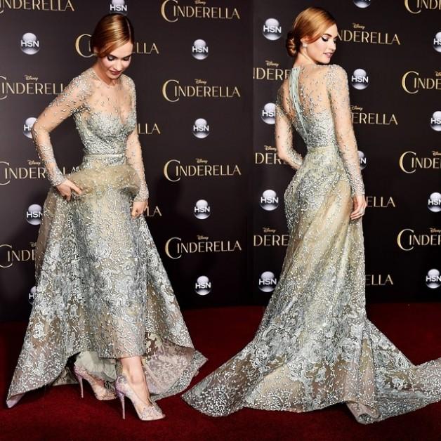 Lily-James-estava-maravilhosa-ontem-na-premiere-do-filme-Cinderela-a-bordo-de-um-vestido-Elie-Saab-a