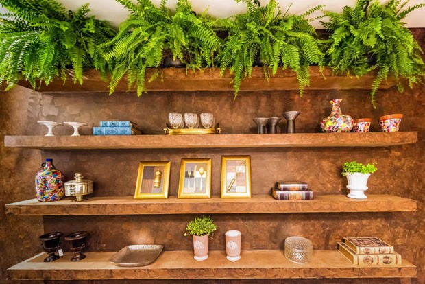 decoracao de interiores goiania:designer de interiores, Mavione Souza , uniu materiais modernos com