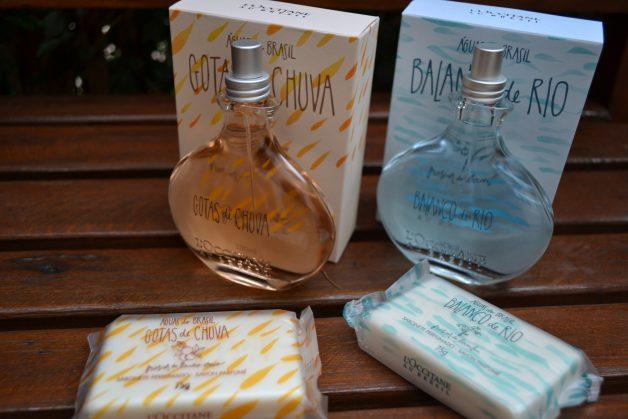 Sabonete Perfumado Águas do Brasil Gotas de Chuva e o Sabonete Perfumado Águas do Brasil Balanço do Rio.