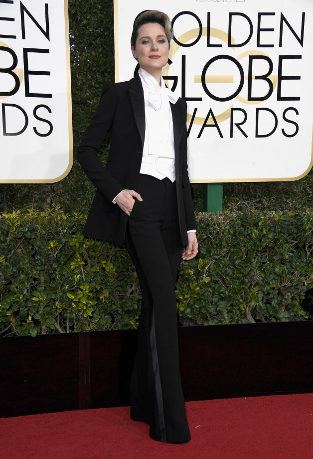 BEVERLY HILLS, CA - JANUARY 08:  Actress Evan Rachel Wood attends the 74th Annual Golden Globe Awards at The Beverly Hilton Hotel on January 8, 2017 in Beverly Hills, California.  (Photo by Frazer Harrison/Getty Images)