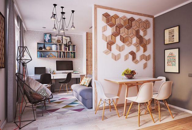 ideias de como organizar um apartamento pequeno