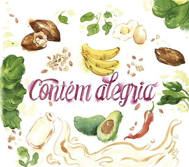 ingredientes que contribuem para o bem estar