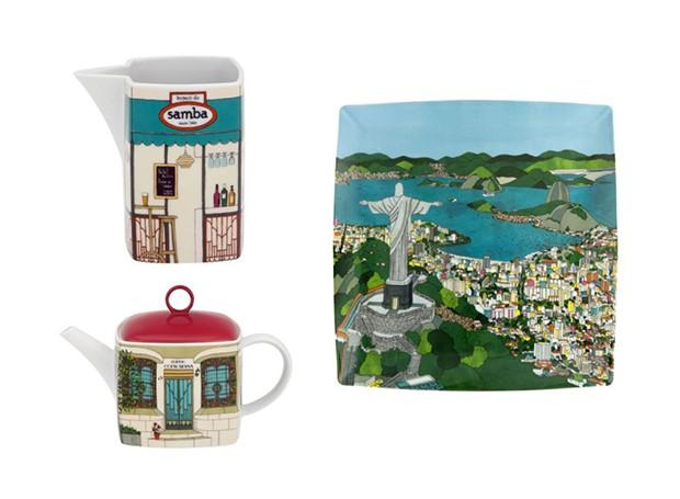 Porcelanas inspiradas no Rio de Janeiro