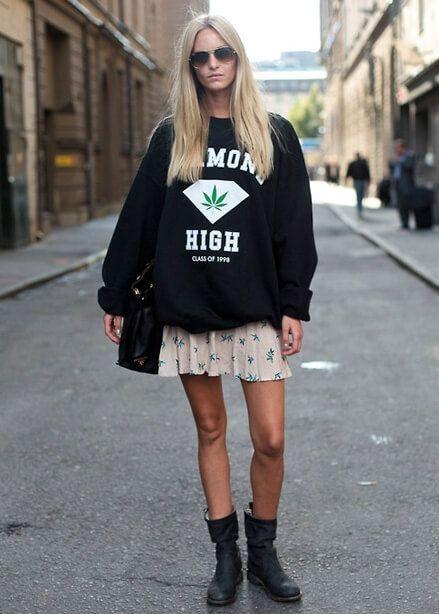 street style look com moletom 4