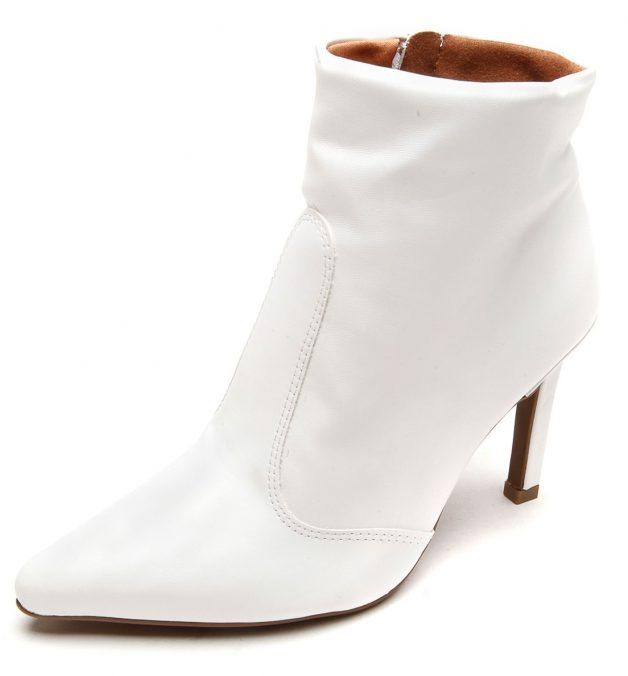 bota branco bico fino vizzano