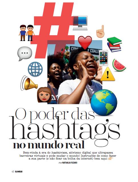 materia glamour o poder das hashtags