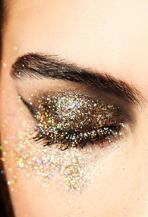 maquiagem de glitter para o carnaval