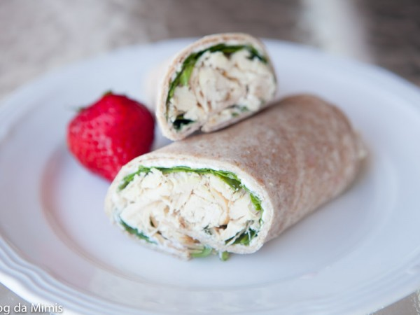 Receita Fit do Dia: Wrap de Frango e Rúcula