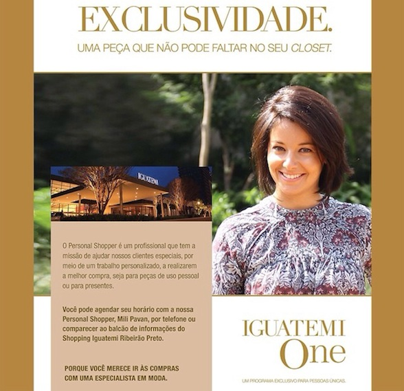 Personal Shopper no Shopping Iguatemi