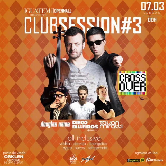 Club Session e Only in Black – As baladas de março no Shopping Iguatemi