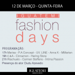É hoje! Confira o Line-Up do segundo dia do Iguatemi Fashion Days